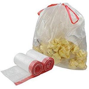 أكياس القمامة الرباط - کیسه زباله بند دار - drawstring garbage bags (TieToss Contractor Bags)